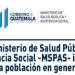 Logotipo del Ministerio de Salud Publica y Asistencia Social de Guatemala durante el gobierno de Alejandro giammattei