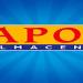 Logotipo de Almacenes Japón en un fondo azul